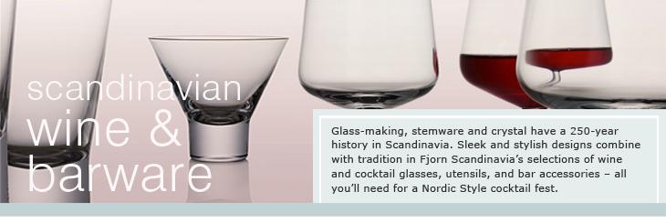 FJORN Scandinavian Wine and Barware.